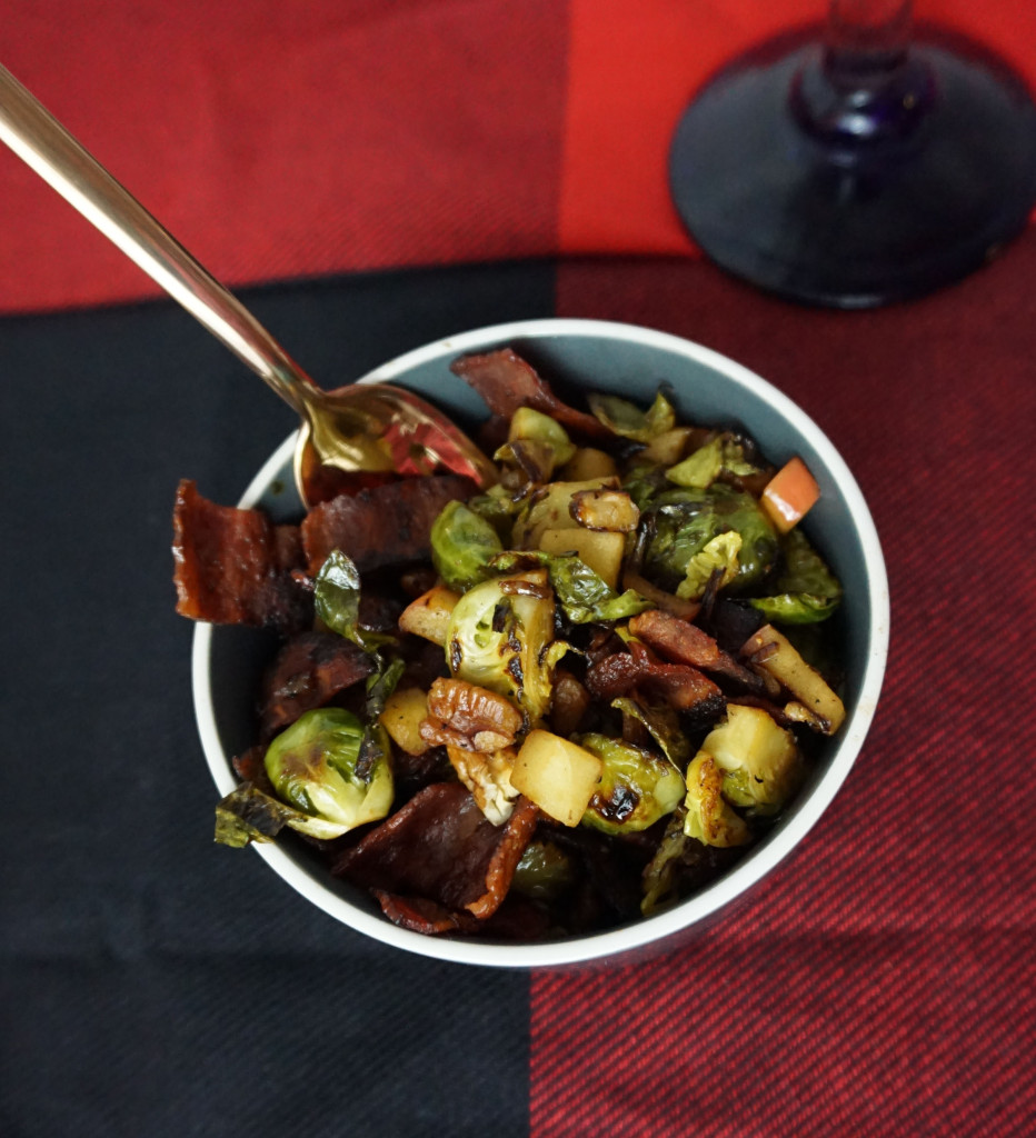 Holiday Bacon Brussel Sprouts