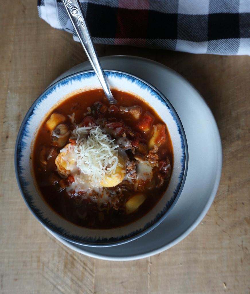 Mushroom Tortellini Soup • Salted Gold