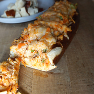 Melty Buffalo Chicken Stuffed Bread