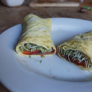 Bacon and Avocado Egg Wraps
